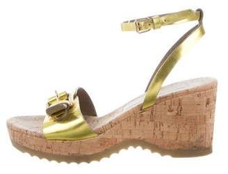 Stella McCartney Metallic Wedge Sandals