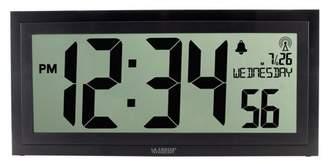 La Crosse Technology BBB87276 15 Inch Textured Atomic Digital Wall Clock