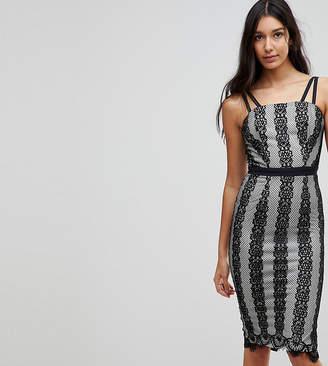 Little Mistress Tall Contrast Lace Midi Dress