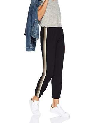 Monrow Women's Elastic Waist Sweats w/Neutral Stripes