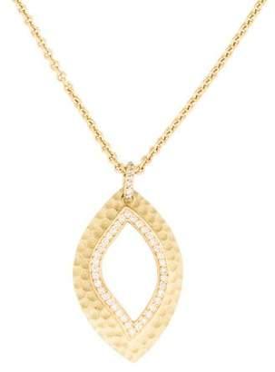 Ralph Lauren K 18K Diamond Leaf Pendant Necklace