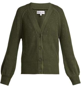 Apiece Apart Gerrit Cotton And Cashmere Blend V Neck Cardigan - Womens - Khaki