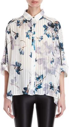 Religion Glisten Floral Batwing Shirt