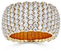 ZYDO 18k Yellow Gold Diamond Stretch Ring