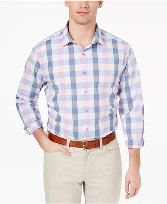 Alfani Men's Slim-Fit Stretch Large Gingham Dress Shirt, Created for Macy's