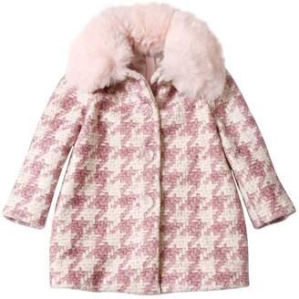 MonnaLisa Houndstooth Printed Boucle Coat