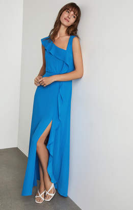BCBGMAXAZRIA Asymmetric Neck Maxi Dress