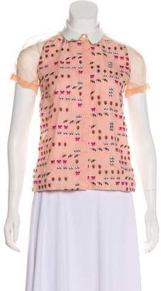 Antipodium Embroidered Button-Up Top w/ Tags