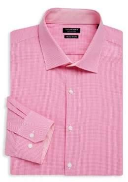 Tailorbyrd Archer Trim-Fit Gingham Cotton Dress Shirt