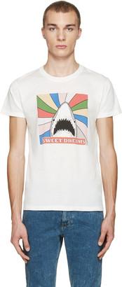 Saint Laurent White Sweet Dreams Shark T-Shirt $350 thestylecure.com