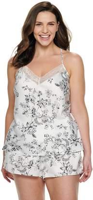 Apt. 9 Plus Size Satin Cami Top & Pajama Shorts Set