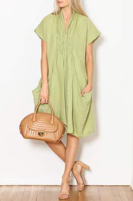 Luna Luz Big-Pockets Linen Dress