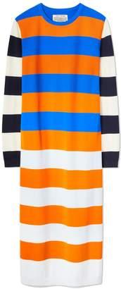Tory Sport BROAD-STRIPE TECH KNIT DRESS