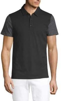 Vince Mix-Stitch Polo T-Shirt