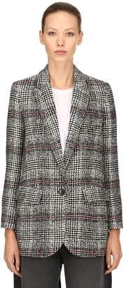 Etoile Isabel Marant Ice Man Fit Wool Blend Plaid Blazer