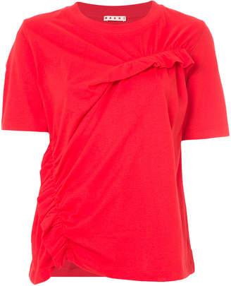 Marni ruffle gathered T-shirt