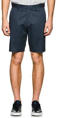 Theory Men's Evan Abstract-Print Cotton Shorts