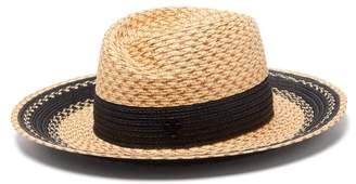 Maison Michel Virginie Straw Hat - Womens - Beige