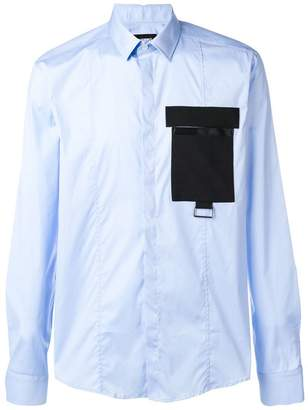 Les Hommes contrast pocket shirt