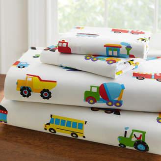 Olive Kids Wildkin Trains, Planes and Trucks Toddler Sheet Set