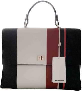 HUGO BOSS Charcoal Leather Handbag