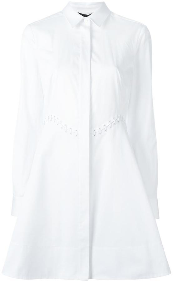 Alexander WangAlexander Wang concealed fastening shirt dress