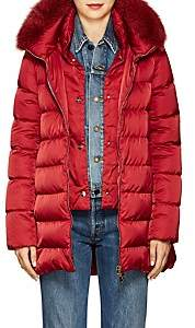 Herno Women's Fox-Fur-Trimmed Down-Quilted Coat-Red