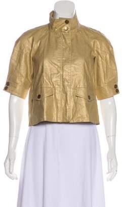 Diane von Furstenberg Linen Ramira Casual Jacket