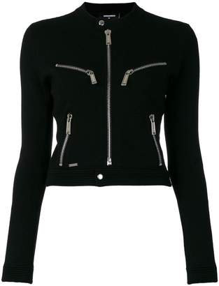 DSQUARED2 zip front knitted cardigan