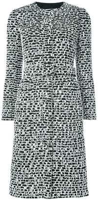 Oscar de la Renta belted textured coat