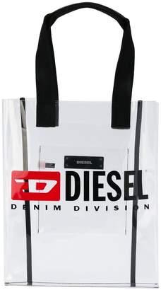 Diesel logo print shopper tote