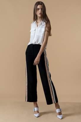 Genuine People Black Side Stripe Pants