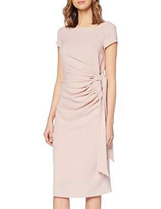 Dorothy Perkins Women's Blush Crepe MANI TIE Side Dress Pink 155, 8 (Size:8)