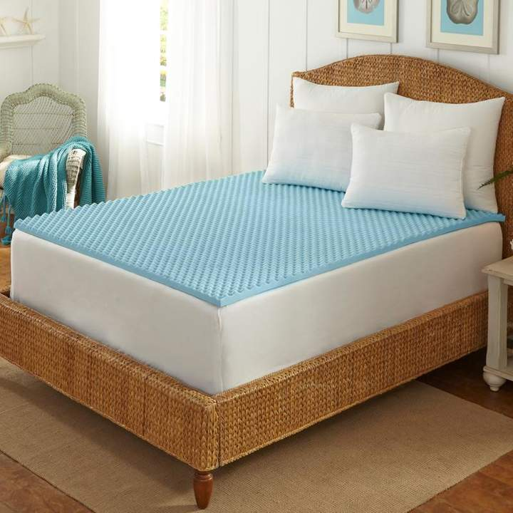 Concierge Collection Cool Blue Memory Foam Topper - Full