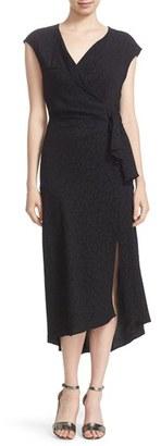 Tracy Reese Cloqué Faux Wrap Dress $348 thestylecure.com