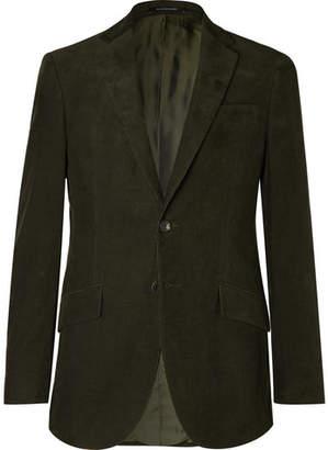 Richard James Dark-Green Slim-Fit Cotton-Corduroy Suit Jacket