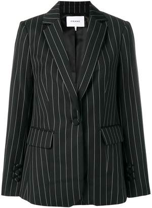 Frame pinstriped fitted blazer