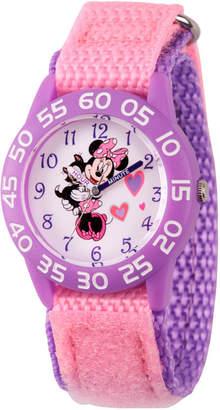 DISNEY MINNIE MOUSE Disney Minnie Mouse Girls Pink Strap Watch-Wds000165