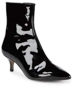 Patent Kitten Heel Ankle Boots