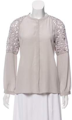 Schumacher Dorothee Lace Button-Up Top