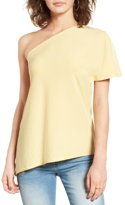 Women's Leith One Shoulder Tee $45 thestylecure.com