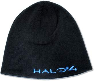 "Bioworld Adult Halo 4"" Blue Logo Reversible Knit Beanie Hat"