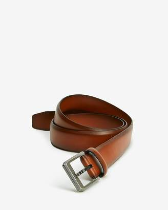 Express Brown Textured Angled Prong Buckle Belt