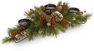 National Tree Company Artificial Berry & Pine Candle Holder