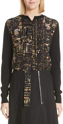 Marc Jacobs City Lights Print Silk & Wool Sweater