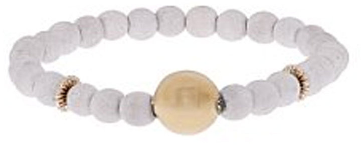Orka Messica Gold and Wooden Beaded Bracelet