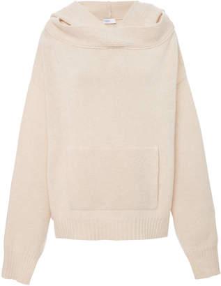 Rosetta Getty Oversized Wool And Cashmere-Blend Hooded Sweatshirt