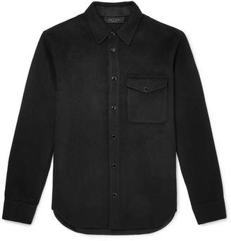 Rag & Bone Principle Cotton-Blend Flannel Overshirt - Black