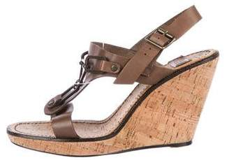 See by Chloe Leather Wedge Sandals