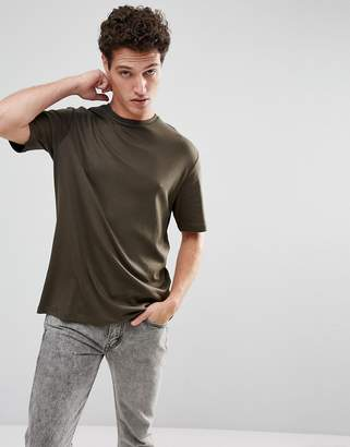 Selected Homme+ Oversized T-Shirt With Drop Shoulder Sleeve